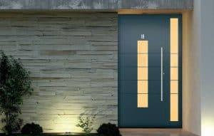 solid aluminium doors