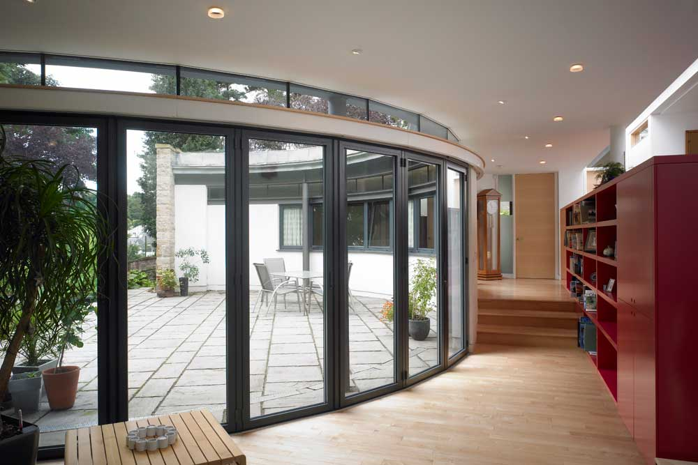 surved bifold door