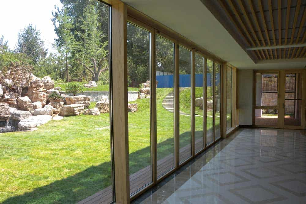 timber clad bifold doors