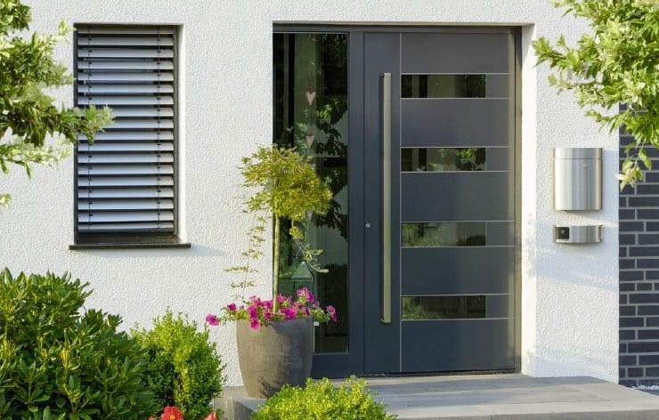 aluminium panel door